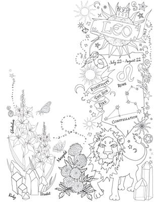 an astrology section featuring pages for each astrological sign which one are you - A Coloring Book