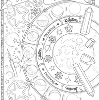 graphic relating to Free Printable Book of Shadows Pages identified as Coloring Ebook of Shadows - Coloring Guide of Shadows