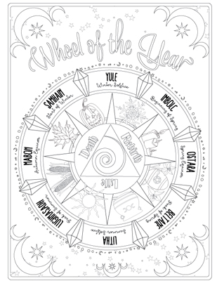 photo relating to Free Printable Book of Shadows Pages called Coloring E-book of Shadows - Coloring Guide of Shadows